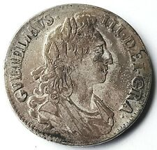 More details for 1695 king william iii crown silver coin