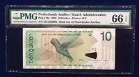 Netherlands Antilles 2003 P-28c PMG Gem UNC 66 EPQ 10 Gulden - Printer JEZ