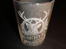 Circa 1900 Buckeye Brewing Etched Glass, Toledo, Ohio