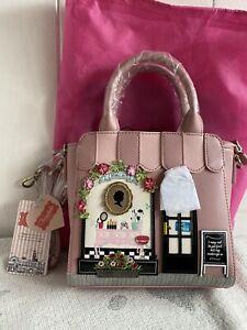 Vendula London Pink Beauty Lounge Mini Tote Bag Handbag