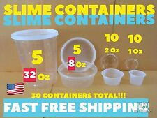 HOMEMADE SLIME CONTAINERS 30 FUN PARTY SIZE Favor KIDs Toy