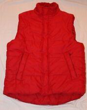 Express Design Studio Red Puffer Vest Small Nylon Polyester Unisex Zipper/Button