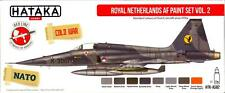 Hataka Hobby Paints ROYAL NETHERLANDS AIR FORCE COLORS Acrylic Paint Set #2