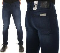Lee Jeans Hose Luke Shadow Karottenschnitt Hipster Durabilt Blau W28 - W38