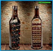Da collezione Vino Rack Dark Wood Floor Stand 18 PORTABOTTIGLIE arredamento rustico UK