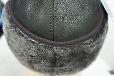 NEW100% Sheepskin Shearling Leather Trapper Elmer Fudd Hunting Aviator Hat M-3XL