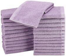 24 Pack Cotton Hotel Wash Hand Cloths 12x12 Bath Office Gym Washcloths Lavender