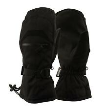 Men's Winter Waterproof Thinsulate Ski Zip Pocket Snowboard Mitten Glove Black L