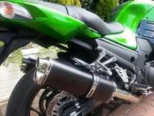 Kawasaki ZZR1400 2012 >  Black Tri-oval Twin Outlet ROAD LEGAL MTC Exhaust