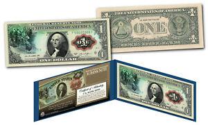 1869 George Washington Rainbow One-Dollar Banknote Hybrid New Modern $1 Bill