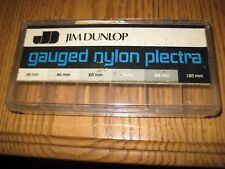 Vintage Jim Dunlop Guitar Pick Box Store Display Case Old Stock Used