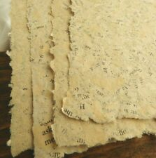 10 Sheets of Handmade Paper - 8.5 in x 5.5 in - charming, vintage, antique look!