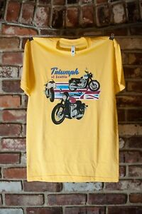"Triumph Mens Yellow Triumph of Seattle ""Modern Classics"" Shop T-Shirt"