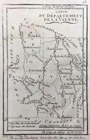 Poitou en 1791 Vienne Montmorillon Loudun Civray Charnoux Chauvigny Availles