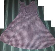 robe 10  ans été rose  petits carreaux CFK