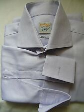 Royal St. Martin (Made in Italy) SLIM FIT PURPLE/LILAC WORK SHIRT UK 16 EU 41