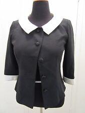 Women's Talbots Petitie Blazer 4 BTN Coat Jacket Dress Suit Designer Fit SZ 8 A1