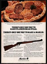 1980 MARLIN 1894 Lever Action Rifle AD w/ Planked Bear Steak Recipe