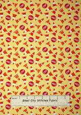 Traffic Stop Sign Construction Cone Toss Cotton Fabric Dear Stella Designs Yard