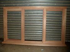 Brand New Unfinished Glazed Hardwood Window 1765mm x 1045mm 2 x Side Openers