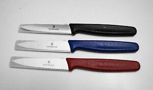 Küchenmesser Victorinox Haushaltsmesser  3 Stück Mittelspitz mit Wellenschliff