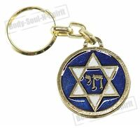 Star David CHAI Jewish Kabbalah success Keychain Ring Israel protection Judaica