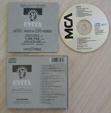 CD EVITA ORIGINAL LONDON CAST RECORDING LLOYD WEBBER ANDREW
