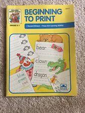 Golden Step Ahead Book Beginning to Print Brand New Home School K-1