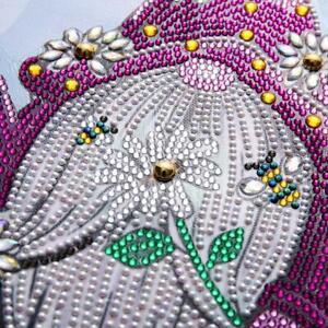 Bee Gnome 5D Special Diamond Painting Embroidery Cross Stitch Rhinestones Decor