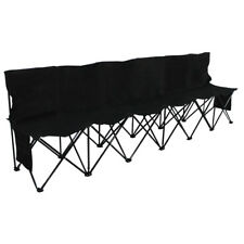 Large Portable  6 Seaters Folding Bench Sport Soccer Camping Game w/ Carry Bag