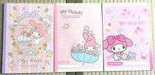 Sanrio My Melody B5 Notebook 3books 1set Graph paper & basic & No ruled line