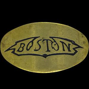 Brass Boston Rock N Roll Music Hippie Band Gift 1970s NOS Vintage Belt Buckle