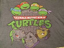 TNMT TEENAGE NINJA MUTANT TURTLES GREY XL T-SHIRT