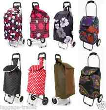 Folding Wheeled Funky Shopping Trolley Festival Bag New Strong Waterproof Light