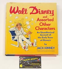 1988 Walt Disney and Assorted Other Characters Hardcover Book by Jack Kinney