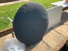 Alexander rose large 105 cm grey round quality zipped pallet/garden cushion pad