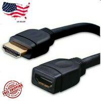 "8"" Inch HDMI High Speed Male to Female Extension Adapter Dongle Port Saver Cable"
