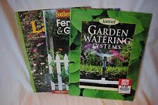 lot 3 yard books Sunset Lawns Garden Watering RETRO VTG Southern Living Fences