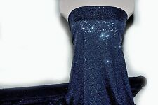 LYCRA SPANDEX  NAVY BLUE  SEQUINS STRETCH BTY  GYMNASTICS DANCE  THEATER FORMAL