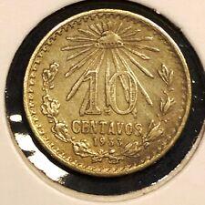 Mexico 10 centavos 1933 Liberty Cap KM#431 Silver VF+