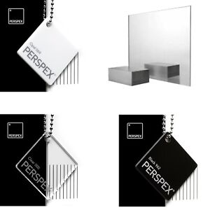 Acrylic Perspex® Mirror, Black, White & Clear Sheets / 2mm, 3mm & 5mm Thickness