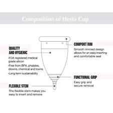 Menstrual Cup Feminine Hygiene FDA Latex Free 40ml Heavy Flow Large Women Teens