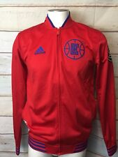 Adidas Men's OC LA Clippers Red Warm-up Jacket Sz Small $110 Basketball