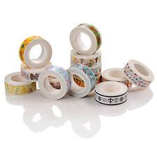 Set of 5 PCS DIY paper Sticky Adhesive Sticker Decorative Washi Tape - 1.5cm×10M