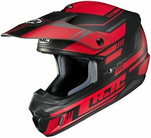HJC CS-MX2 Motocross Helmet Trax RED DIRT BIKE ATV CSMX CS-MX II MC1SF