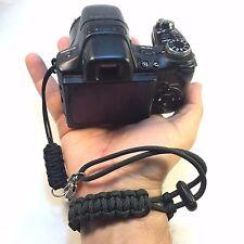 Handmade Comanche Camo Paracord DSLR Digital Camera Camcorder Wrist Safety Strap