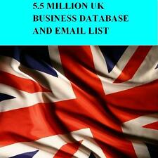 UK Business Database & Email List 5500k for Email Marketing Telemarketing