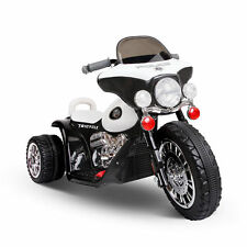 New Aim Harley Style Ride-on Battery Police Car Toy - Black/White