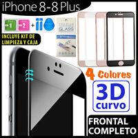 CRISTAL TEMPLADO CURVO PROTECTOR DE PANTALLA PARA IPHONE 8  / 8 PLUS / X 2.5D