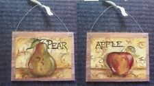 Fruit Pictures Apple Pear Kitchen Wall Hangings Decor Plaques